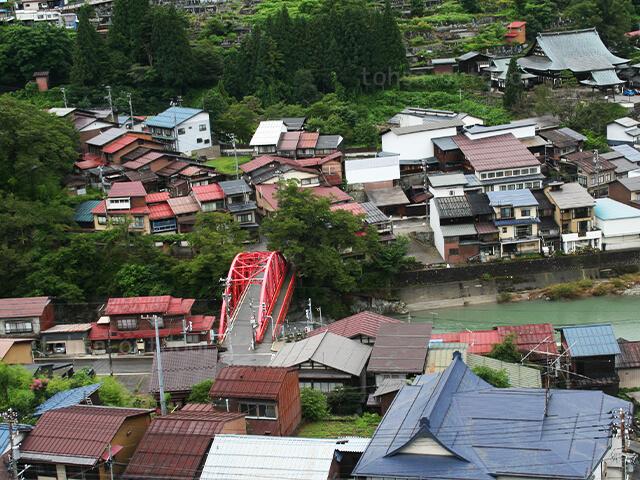 奥飛騨温泉郷 7月 夏キャンプ 飛騨市 神岡 観光 神岡城からの景色 2020