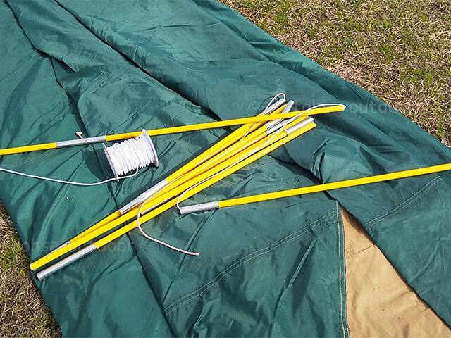 キャンプ メンテナンス テント コールマン スクリーンタープ